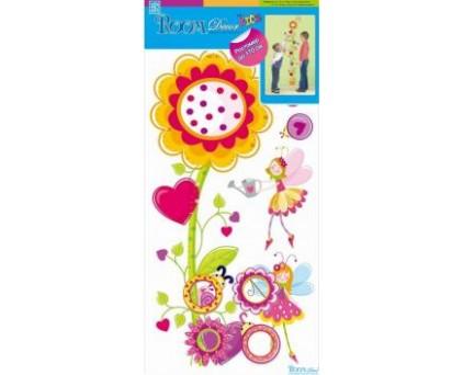 5202 RDA Стикеры ростомер-цветок с сердечками