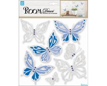 RKA 6604 (бабочки-стразы синие с серебром)
