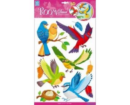 0517 RCA Стикеры лесные птицы