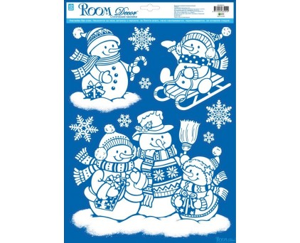 WDX8501 A (забавные снеговики)