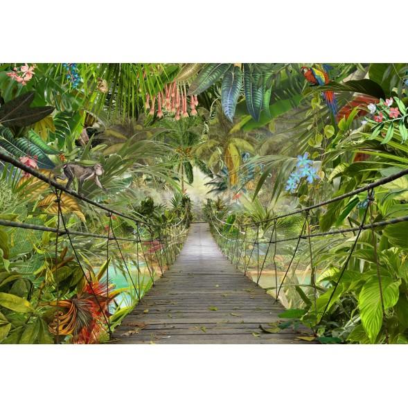 """8-977 Фотообои Komar """"Мост в джунглях"""""""